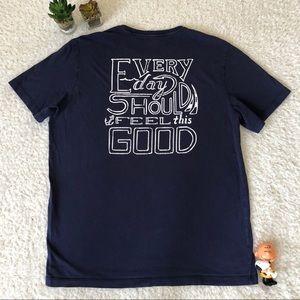 Vineyard Vines Blue EDSFTG Tee Shirt Men Medium
